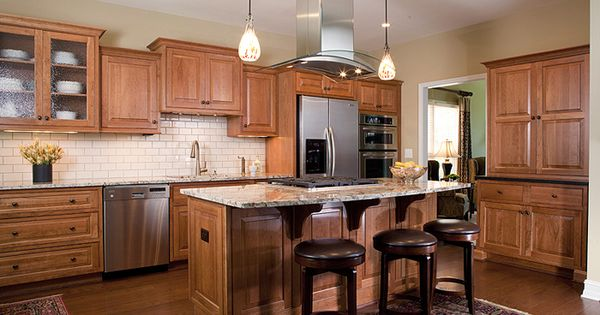 Cabinets medium cherry beaded inset overlay using for Beaded inset kitchen cabinets