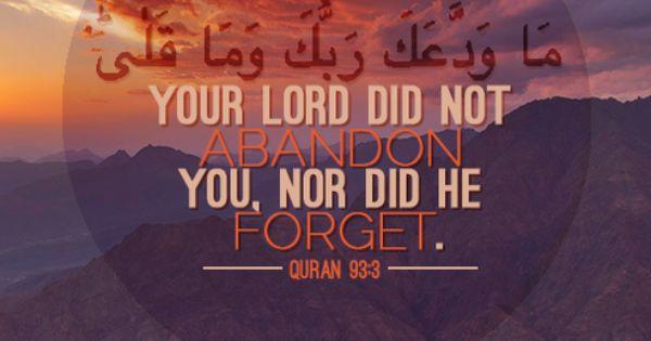 The Tumblrer — Quranic verse 93:3 of Surah Ad-Dhuha | Quotes