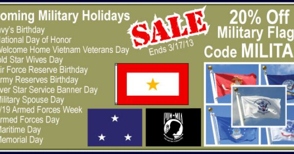Military Flags On Sale Vietnam Veterans Day Military Military Holidays