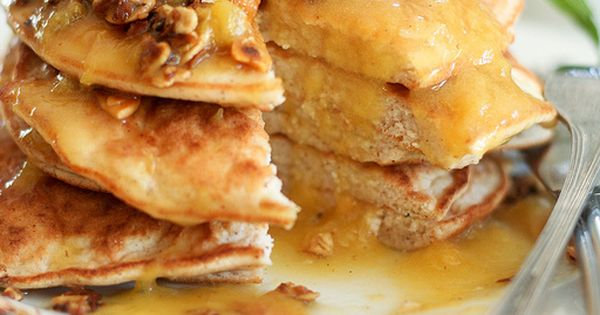 peach cobbler coconut pancakes | A Sweet.... | Pinterest | Peach ...