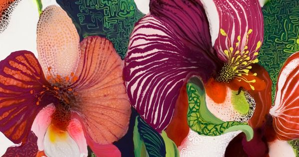 Beautiful Floral Print by Thierry Feuz
