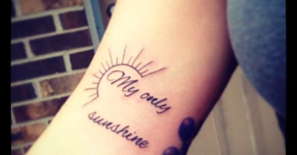 my only sunshine tattoo my style pinterest tattoo tatting and piercings. Black Bedroom Furniture Sets. Home Design Ideas