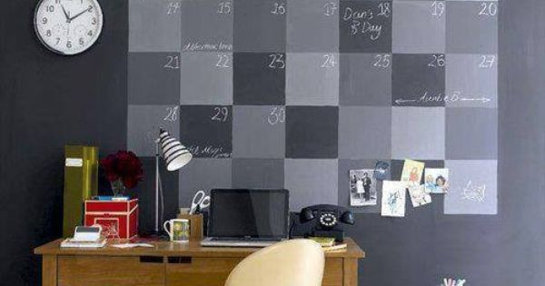 kalender an deiner zimmerwand wand mit tafelfarbe bemalen. Black Bedroom Furniture Sets. Home Design Ideas