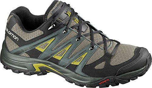 Salomon Mens Eskape Aero Shoes Nile Green Titanium Corylus Green 115 Collapsing Waterbottle Bundle Want Additional Inf Shoes Trekking Shoes Hiking Women