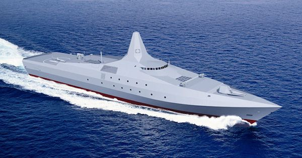 Future Ship Design : Lurssen multi role light frigate future design fantasy