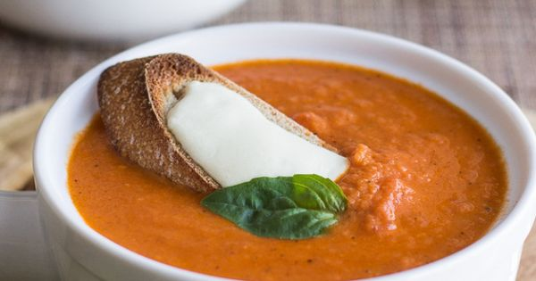 Cheese toast, Tomato basil soup and Creamy tomato basil soup on ...