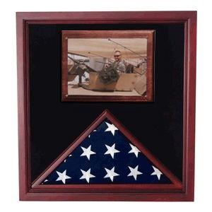 16x24x3 Walnut With 2 3x5 Corner Flag Frames Greg Seitz Woodworking Framed Flag Military Shadow Box Shadow Box