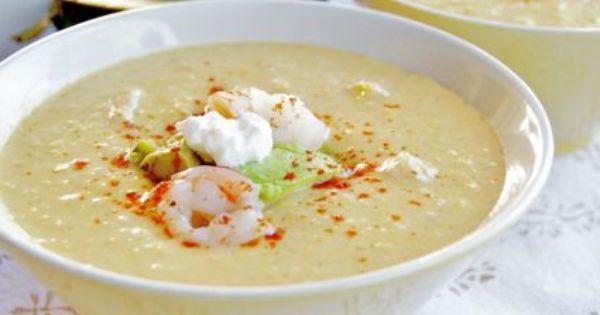 Chilled Southwestern Corn & Shrimp Chowder | tout est bon dans le ...