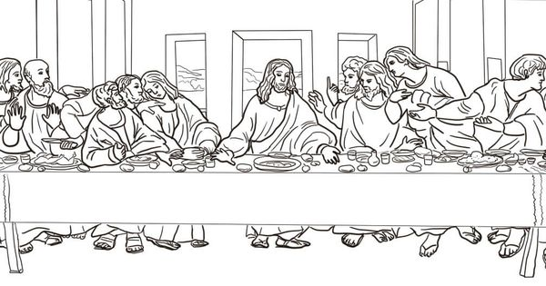 Davinci Last Supper Coloring Sheet Coloring Pages Da Vinci Last Supper Coloring Pages