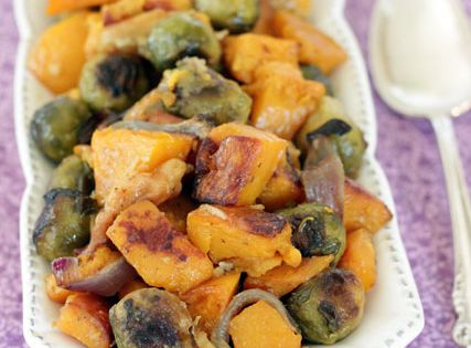 Roasted Brown Butter Butternut Squash, Apples and Brussels Sprouts ...