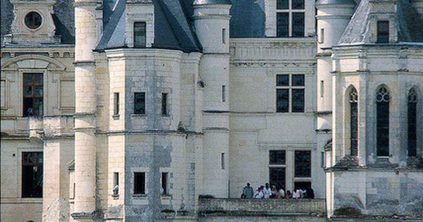 Castle in Loire - light stone, blue roofs, lovely moat: