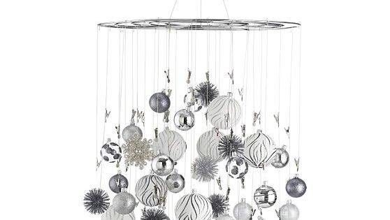 Ornament-Photo Chandelier in Christmas Decorating | Crate and Barrel