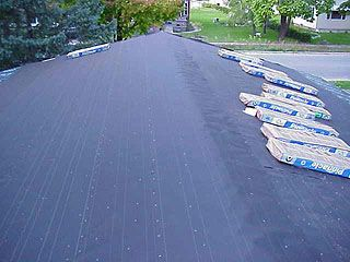 Roof Of Small House With Tar Paper Applied Ready For New Shingles Replace Roof Shingles Roof Shingling