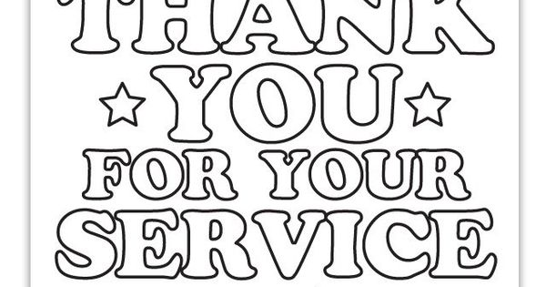 Thank You Military Coloring Pages Summer school 2015