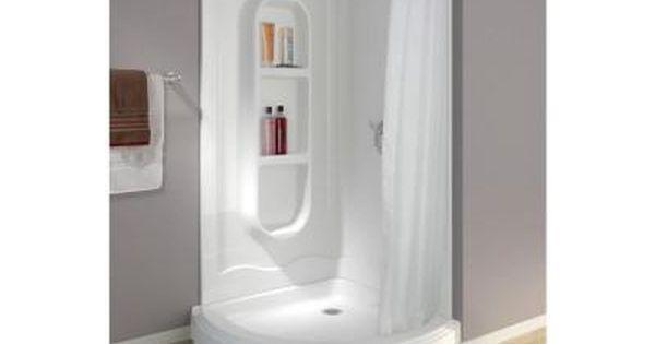 Freesia 38 In X 38 In X 78 In Shower Kit In White 455020 The