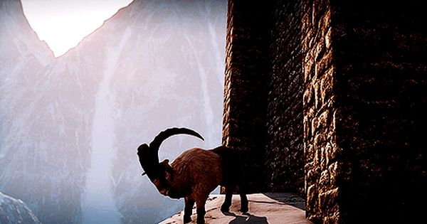 Dragon Age Inquisition Attacking The Building With A Goat