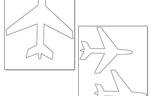 cut out airplane template - printable airplane shapes from