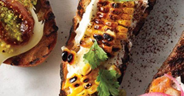 Grilled Corn, Crema Mexicana & Cilantro Crostini. (1) From ...