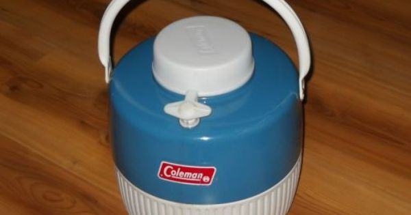 Vintage Coleman Rare Blue Steel Gallon Cooler Water Jug Thermos Camping Picnic Ebay Vintage Thermos Vintage Camping Picnic