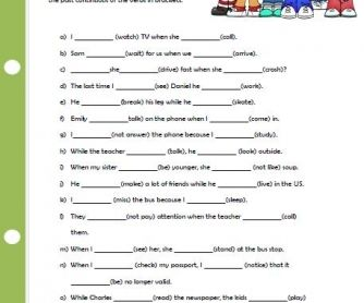 Past Simple Vs Past Continuous Elementary Worksheet Ii Simple Past Tense Simple Past Tense Worksheet Elementary Worksheets