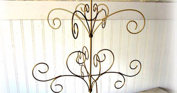 Table Top Wire Tree / Shabby Chic Wire Tree / Gold Metal