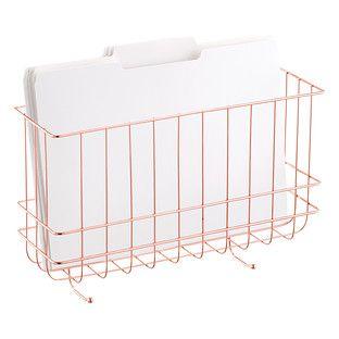 Harvest Wire Storage Baskets With Handles The Container Store Wall File Wire Basket Storage Wire Storage