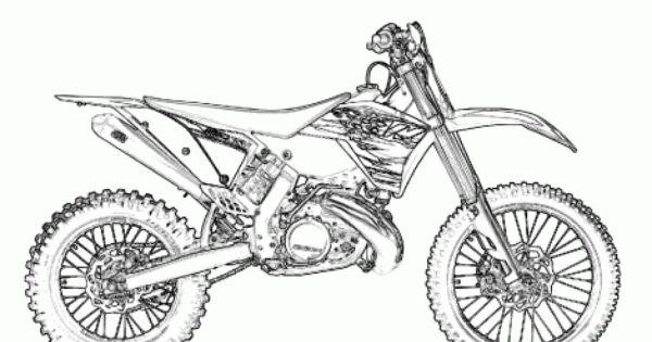 printable dirt bike coloring page