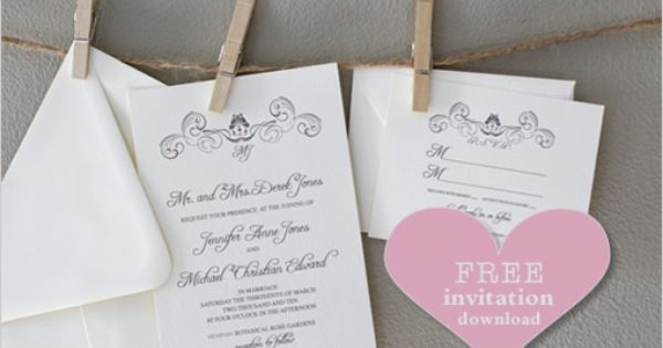 another wonderful FREE WEDDING INVITATION idea from wedding chicks - invitation downloads