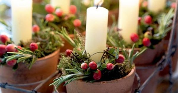 Homemade Christmas Decorations With Rustic Charm Christmas Candles