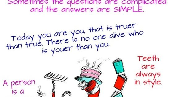 30 Dr. Seuss Quotes ~ Thirty inspirational Dr. Seuss quotes that can