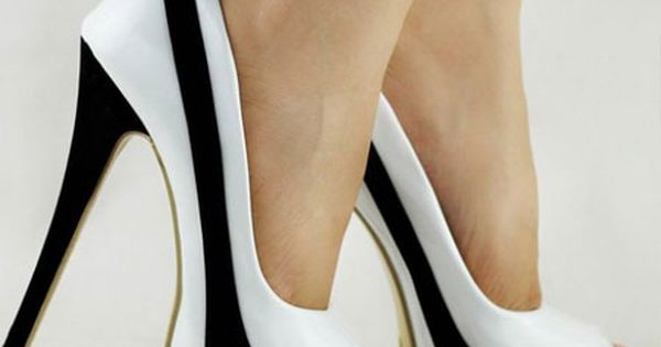 Amazon.com: Show Story Sexy Two Tone Peeptoe Bow Stiletto Platform High Heels