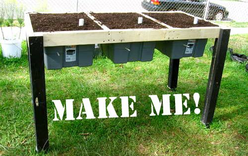 Build A Self Watering Salad Table Gardens Raised Beds And Container Gardening