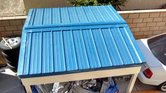 Metal Sales 8 Ft Classic Rib Steel Roof Panel In Ocean Blue 2313235 The Home Depot Steel Roof Panels Roof Panels Roof Styles