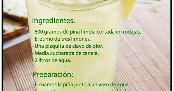 Jugo para el colesterol. Ingredientes: Piña, 3 limones