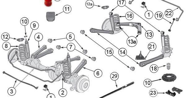 jeep grand cherokee wj  u0026 wg suspension parts components at