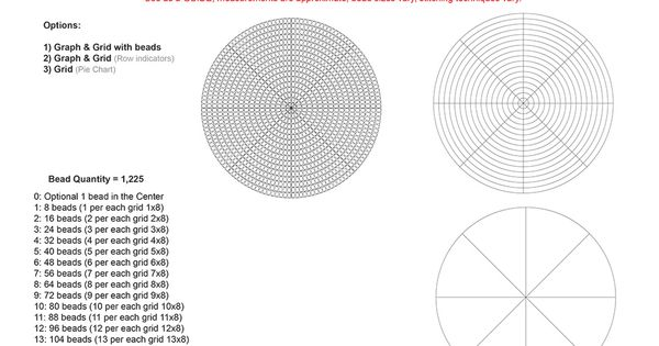 free 3 u0026quot  rosette graph  u0026 grid for size 11 seed beads