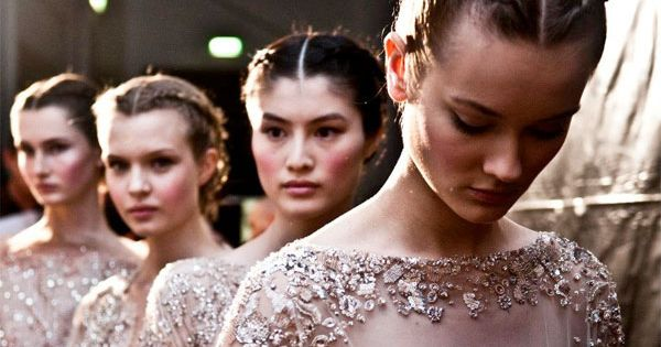 Ellie Saab Fall/Winter Couture 2012-13 I love this hair style!
