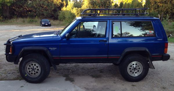 94 Jeep Cherokee 3 Inch Lift 31 Tires Homemade Roof Rack Jeep