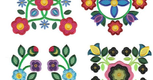 Applique baltimore album blocks machine embroidery designs