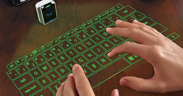 GREEN! This Virtual Keyboard | 18 Gadget Gift Ideas From The Depths