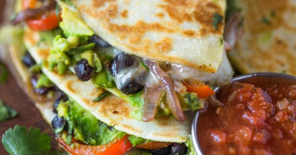 Avocado Black Bean Quesadillas | Recipe | Cilantro, Black beans and ...