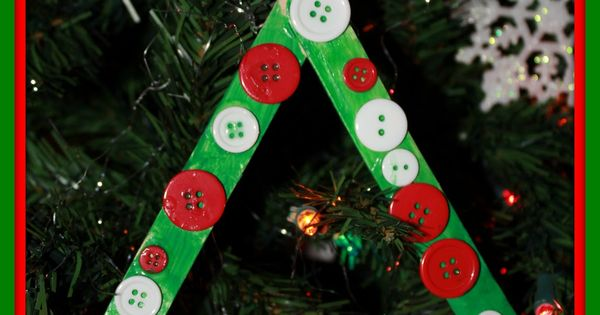 christmas projects with popsicle sticks | Momma's Fun World: Popscile stick Christmas