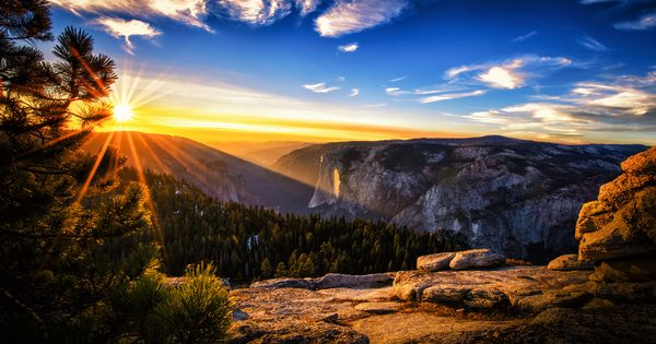 magnificent mountain sunset hdr -#main