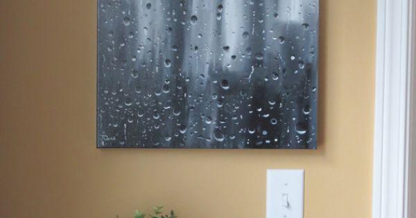 Reserved For K Seattle Skyline Space Needle Seattle Art Rain Art Raindrop Original Acrylic