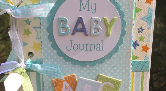 Baby boy mini album scrapbook kit or premade gift for baby boy
