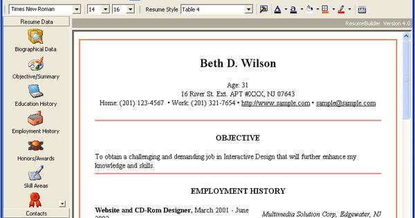 Microsoft Works Resume Templates Http Www Resumecareer