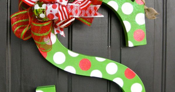 24 inch paper m ch polka dot christmas letter by for 24 cardboard letters