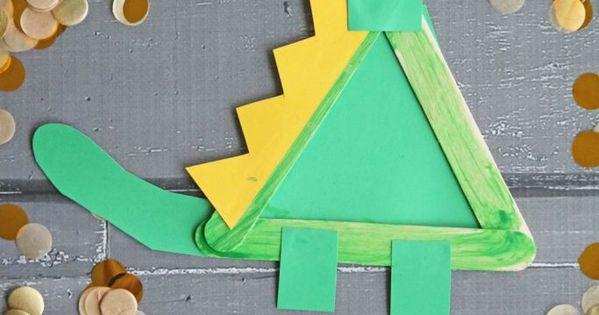 Popsicle Stick Dinosaur - Kid Craft | Craft, Activities ...