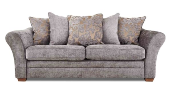 Gorgeous leather fabric 4 seater sofas furniture for F furniture village