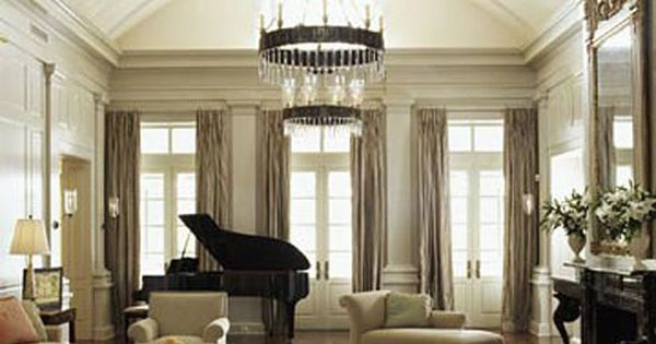 lovely living room, love the grand piano!  living room♥  Pinterest